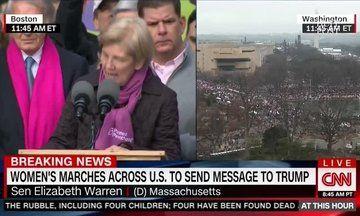 Elizabeth Warren Gives Powerful Speech During Boston's Women's March