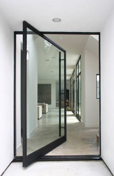 Great modern door. Pivot-hung door.