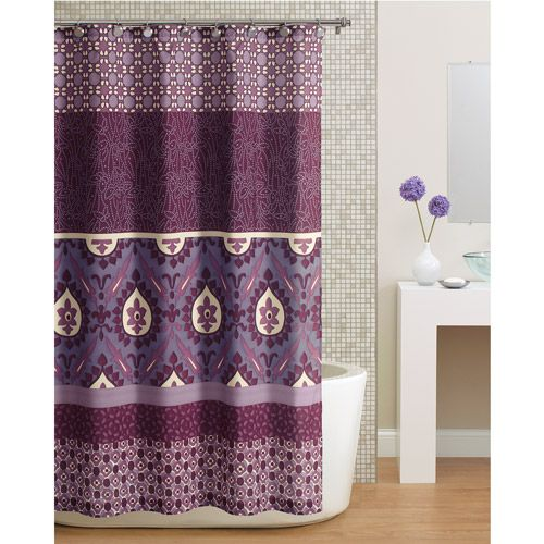 Hometrends Paisley Shower Curtain, Purple