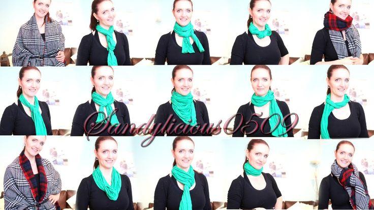 Schal richtig binden - 15 Arten! Schal und XXL Schal - how to wear a scarf