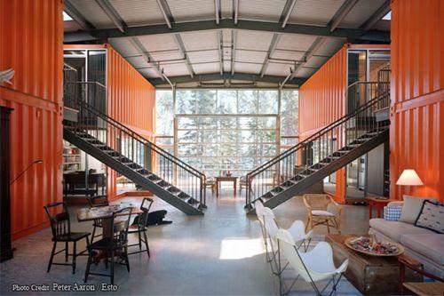 Inside Adam Kalkin cargo container house