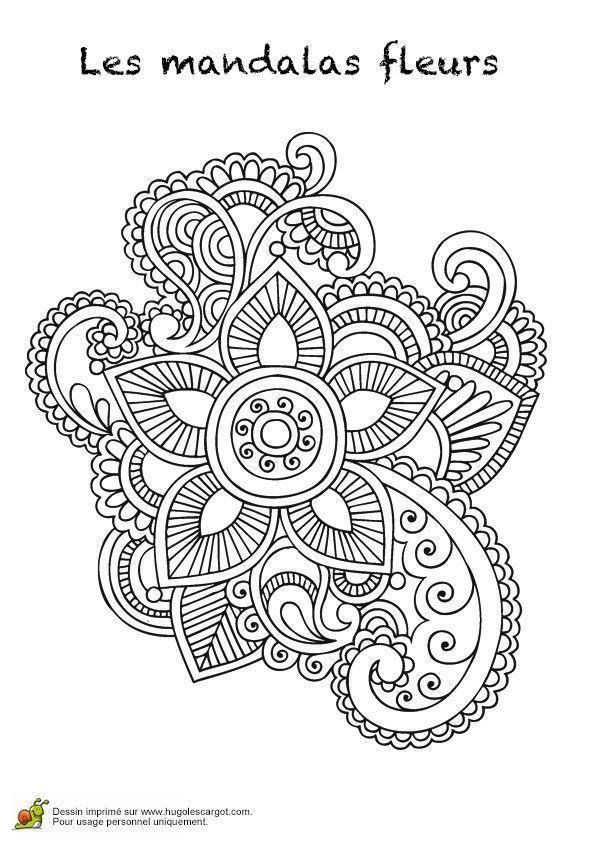 Coloriage Mandala Fleur A Imprimer Mandala Coloring Pages