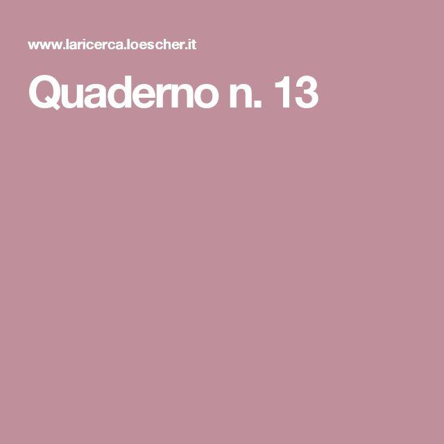 Quaderno n. 13
