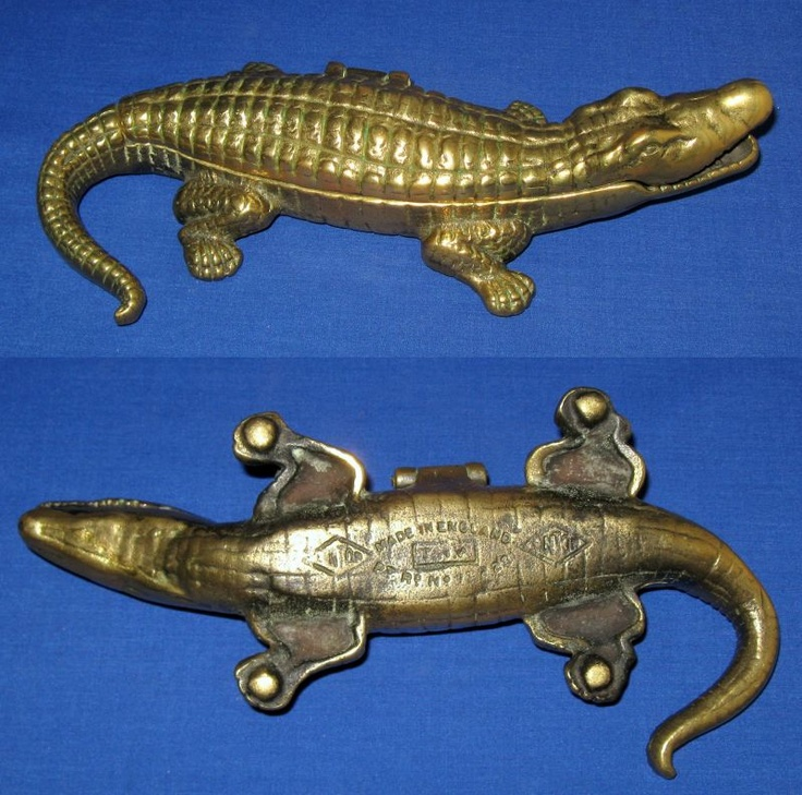 Antique Large Linton Brass Crocodile Alligator Table