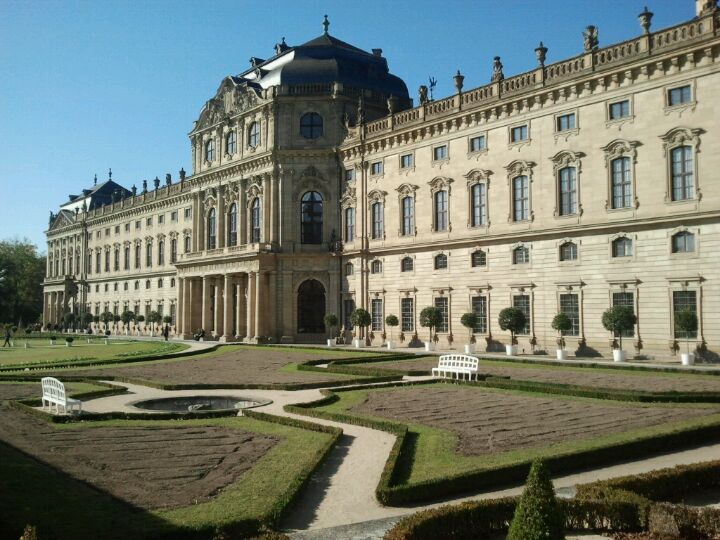 This beautiful building was former residence of the Würzburg prince-bishops. It was built for Prince-Bishop Johann Philipp Franz von Schönborn, but by the time it was completed it served Friedrich Carl von Schönborn and the two following Würzburg prince-bishops.