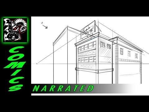 How to Draw - Buildings - Using Sketchbook Pro - Tutorial - Narrated - YouTube