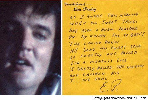 Ode To A Robin By Elvis Presley