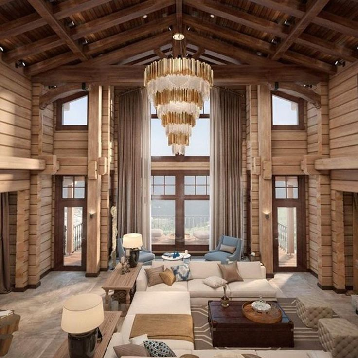 How much our partner LUXXU's Empire chandelier fits perfectly in this mountain lodge project by the Russian designer Sabir Ulmaskulov?  What do you think? #luxxu #interiordesignideas #decor #interiordesign #homedecorideas #homedesign #interiordecor #instadesign #interiorstyle #inspiration #contemporarylamps #modernlamps #designlovers #midcentury #lightingdesign #ulmaskulovinteriordesign Reposted Via @delightfulll