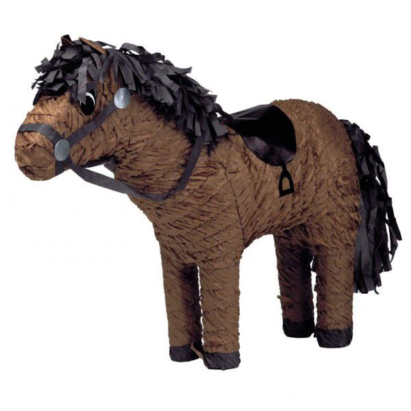 Horse pinata: This pinata in the shape of a horse is easy to break open. Fill it with anything you wish (candy, confetti,...) thanks to a small opening (5 cm diameter). The goal is for a group of children, with or...
