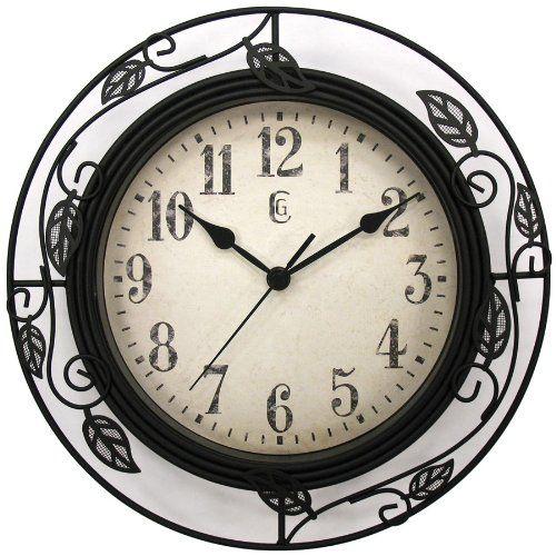 "Geneva 12"" Wrought Iron Wall Clock Geneva Watch Group,http://www.amazon.com/dp/B001CRHPOO/ref=cm_sw_r_pi_dp_4lwzsb1VZ7JQCSYR"