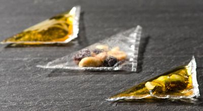 Transparent Ravioli- Molecular Recipes www.aaronscatering.com #moleculargastronomy #ravioli