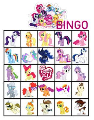 FREE My Little Pony Birthday Party Bingo Printables