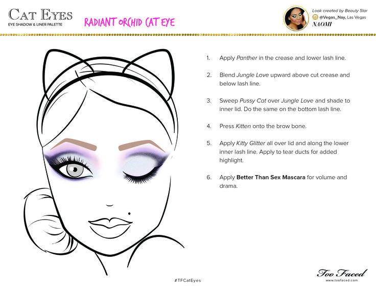 Love this Radiant Orchid Cat Eye Tutorial from Too Faced Cosmetics! Such a glamorous way to incorporate the color of the year into your beauty routine!