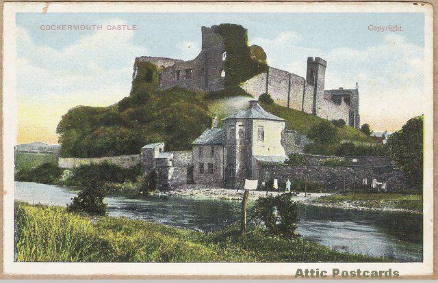 Vintage postcard of Cockermouth Castle in Cockermouth, Cumbria, England.