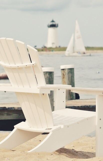Adriondack Chair on the beach.   Martha's Vineyard