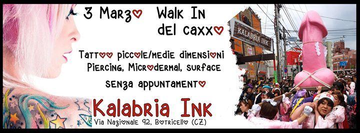 Come ogni anno anche quest'anno è in arrivo il nostro Walk In di Marzo!! Vi tatuiamo e foriamo tutti, ma proprio tutti SENZA APPUNTAMENTO!!! metteremo a disposizione svariati DISEGNI ORIGINALI di piccola e media grandezza! Tattoo da 50€ - 80€ - 100 € CHI PRIMA ARRIVA PRIMA SI TATUA!!! Orario 11:30 - 20:00   In studio Masaniello, Salvatore, MirKoo, Carlos per i tattoo e Andrea per i fori!!  VI ASPETTIAMO NUMEROSI!!!  Andrea Mollica rimarrà con noi anche Sabato 4, ma lavorerà solo su…