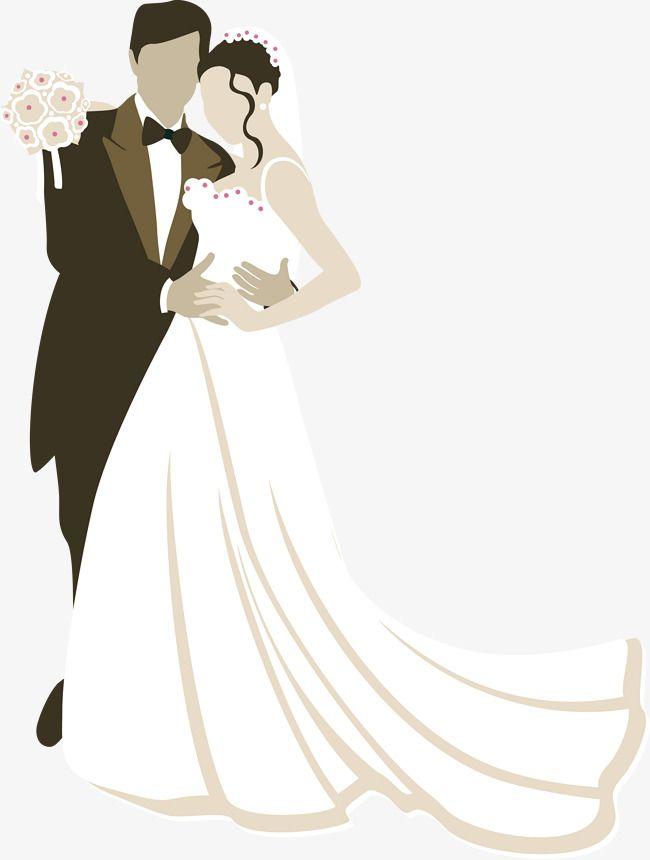 Свадебная открытка векторный клипарт