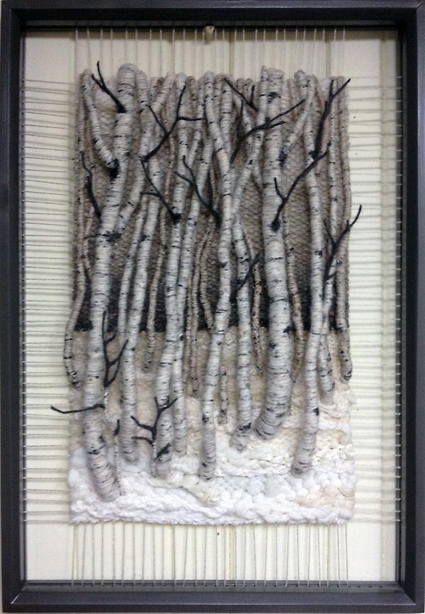 COUCHING WALL HANGING           PC  Dimensional Weaving - Martina Celerin 3D fiber art
