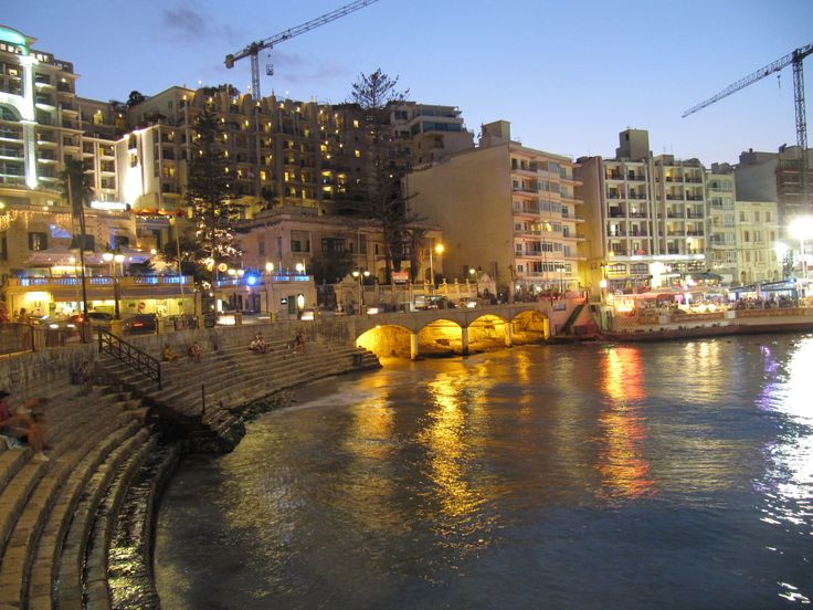 St. Julian by night, Malta