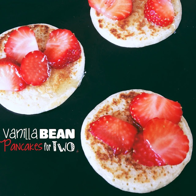 Pancakes for two, Pancakes and Vanilla on Pinterest