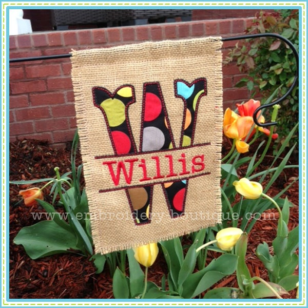 Embroidery Boutiqe-In The Hoop Garden Flag