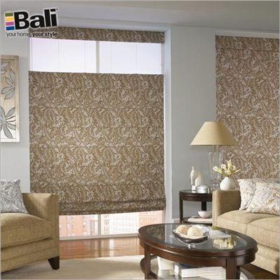 Bali: Custom Tailored Roman Shades #BlindsComWin I like these in the Diamond Natural or Twig Cream