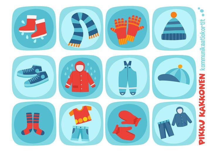 Kommunikaatiokortit | vaatteet I lapset | perhe | koti | arki | kalenteri | askartelu | paperi | paper | DIY ideas | communication  | clothes I communication card | kid crafts | Pikku Kakkonen | yle.fi/lapset