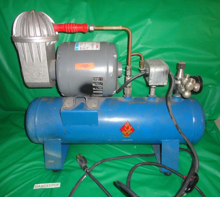 Paasche Air Airbrush Compressor Marathon Motor 1/4 hp oil-less 2 brush outputs find me at www.dandeepop.com