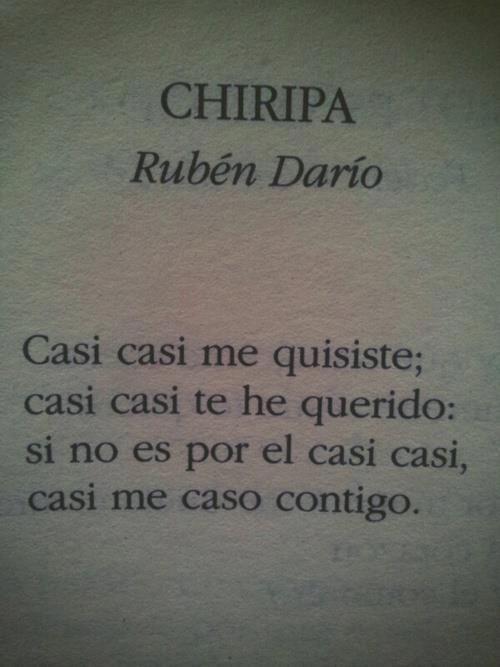 CHIRIPA de Rubén Darío