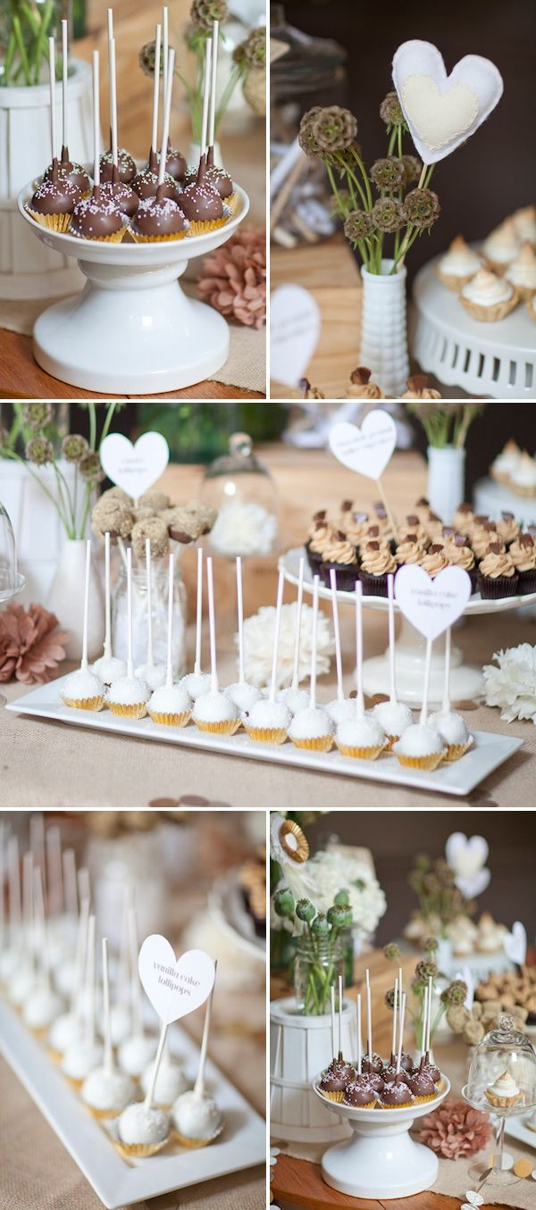 DESSERT STYLING + RYAN BAMBINO GOSLING | Hand-stamped love letters, cake pops, heart toppers, milk glass and porcelain vessels by DIY + Styling Bloggista, Andrea Gray Harper! Plus, our Emici Bridal Giveaway Winner! | The Knotty Bride™ Wedding Blog + Wedding Vendor Guide