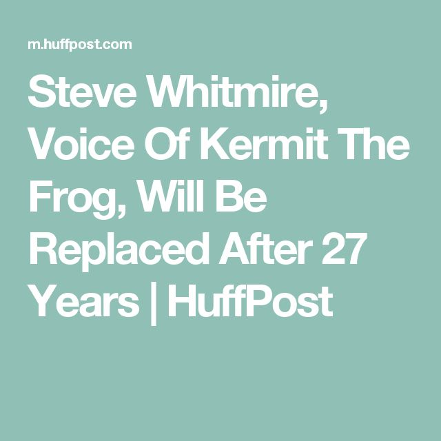 Steve Whitmire, Voice Of Kermit The Frog, Will Be Replaced After 27 Years | HuffPost