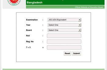 SSC Exam Result Bangladesh