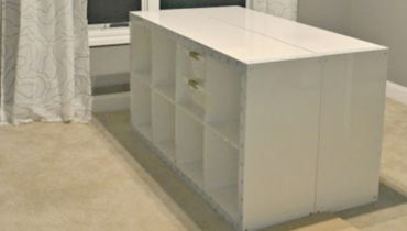 DIY-Craft-Table-Built-With-Items-From-Ikea