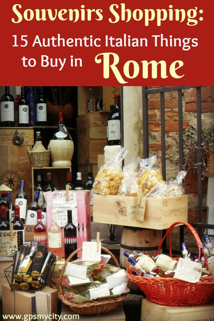 Spoiled for choice as to what to buy in Rome? Check out this shopping guide for 15 ideas regarding unique souvenirs worth bringing home from the Eternal City.