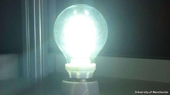 Une ampoule au graphène