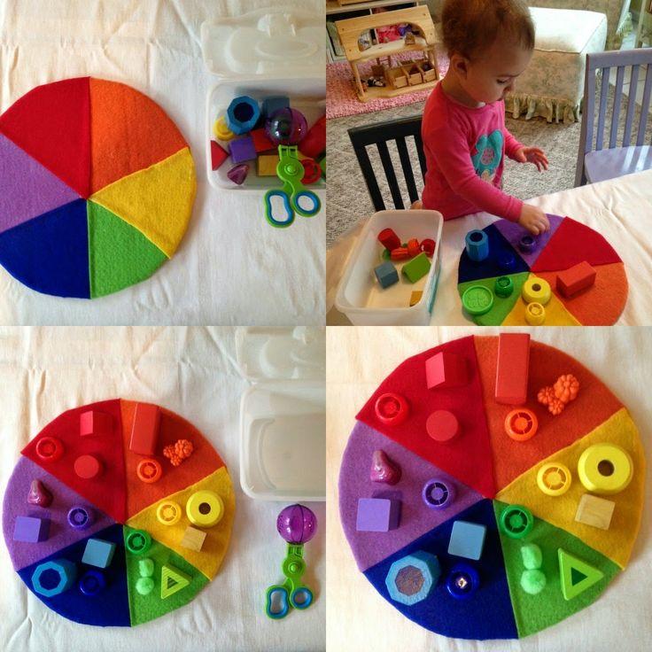 Plein d'idées sympas autour des couleurs , inspiration Reggio .