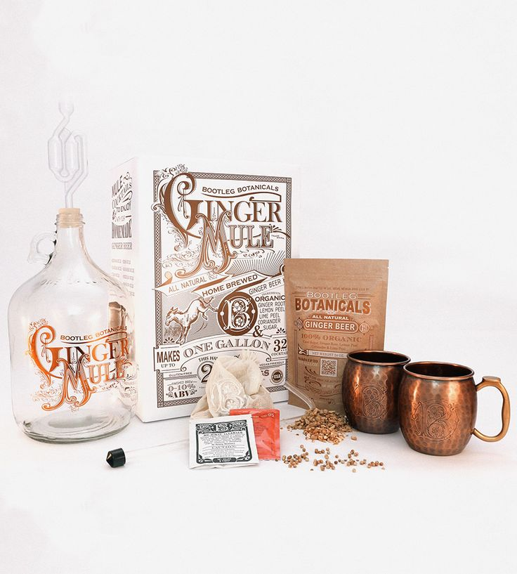 DIY Ginger Moscow Mule Kit | The only thing better than a frosty-cold Moscow Mule is a fros... | Cocktail Mixes