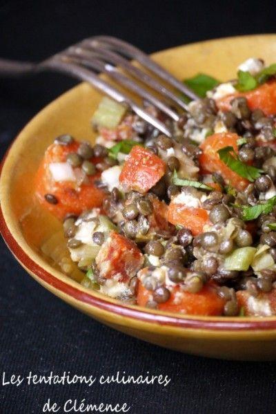 salade lentilles chorizo chevre