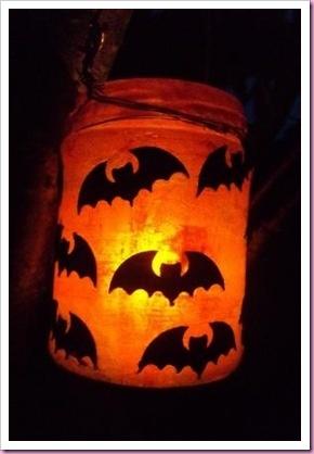 Batty Halloween Jar Lantern