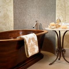 Qua?  Wooden Tub?  Fantastic!: Wine Cellar, Modernbathroom, Idea, Bath Tubs, Wood, Modern Bathroom, Interiors, Bathtubs, Pools Houses