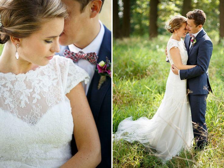 Fotogeniek op de foto als bruidspaar zonder echt te poseren.
