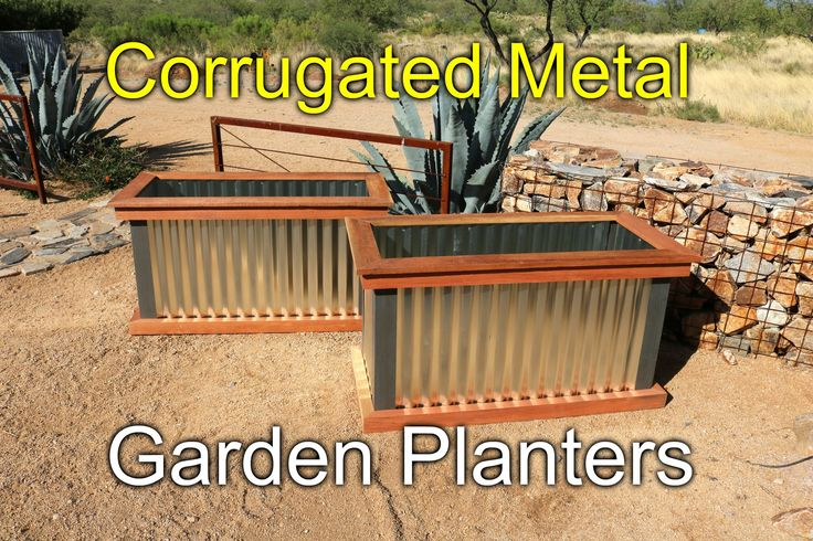 Building corrugated metal and redwood planters for my friend Jim. Here's a quick…