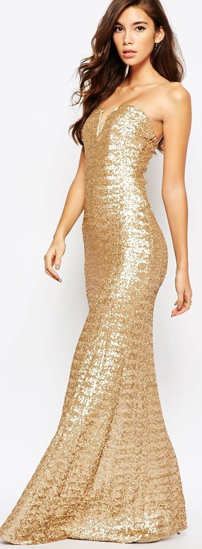 Glittery gold sequins!