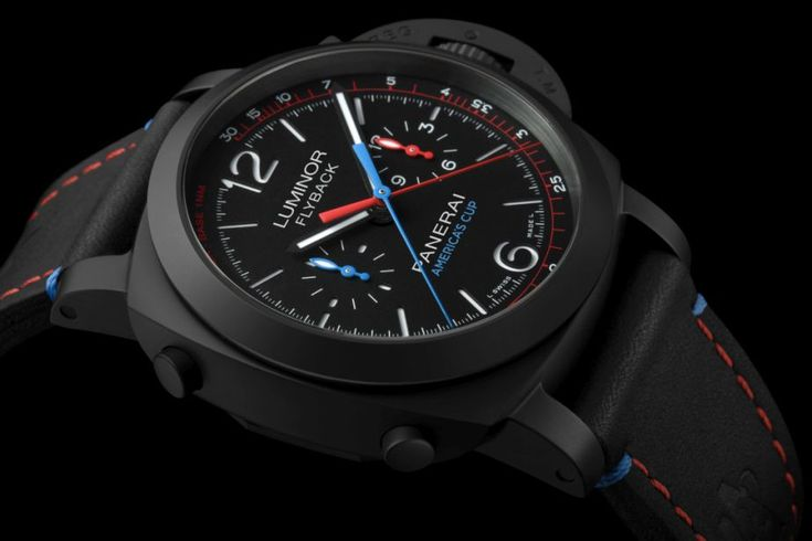TimeZone : Industry News » SIHH 2017 - Officine Panerai Luminor 1950 Oracle Team USA Chrono Flyback Ceramica