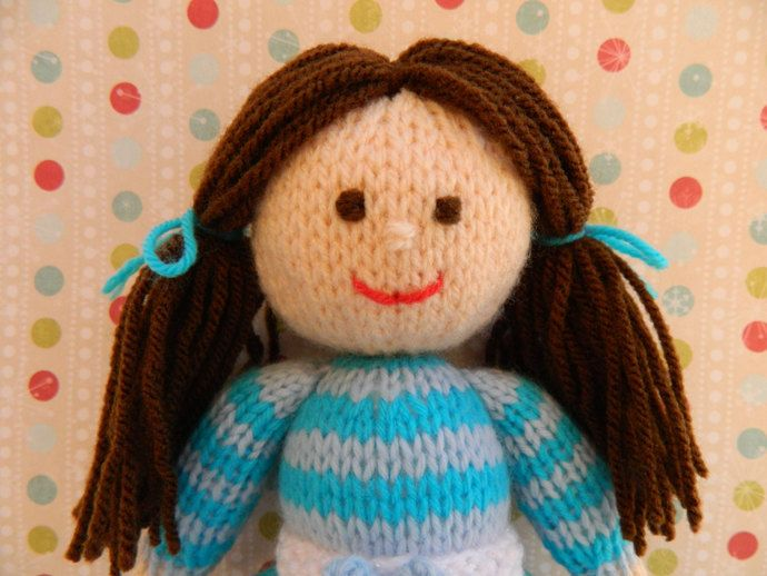 Pansy - A Winter Knitted Doll - Toy Knitting Pattern by Joanna Marshall, £3.00 GBP