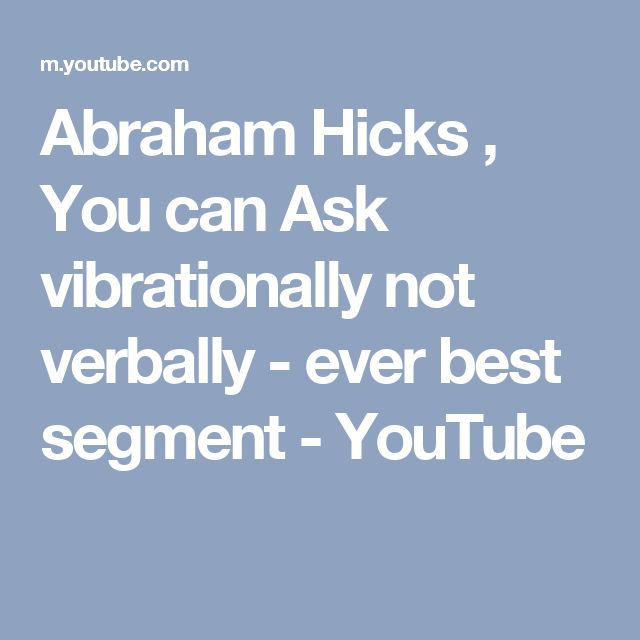 how to ask abraham hicks