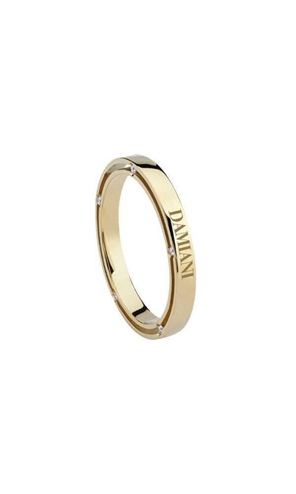 D.Side yellow gold and diamonds wedding band