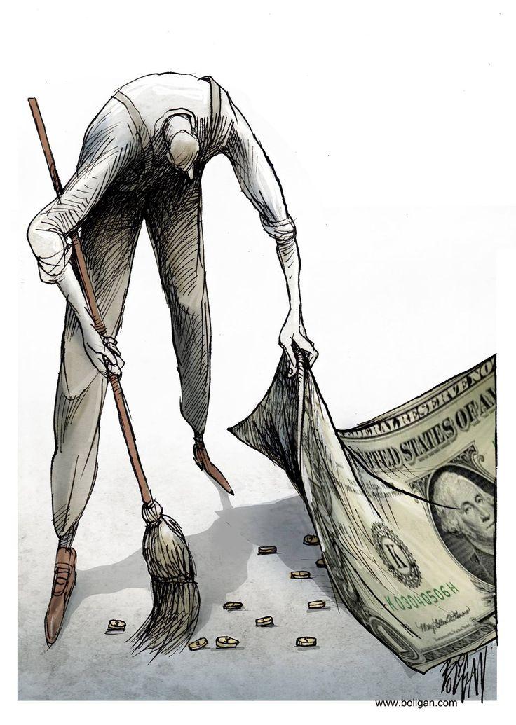 Angel Boligan – Salaire minimum / caricatures
