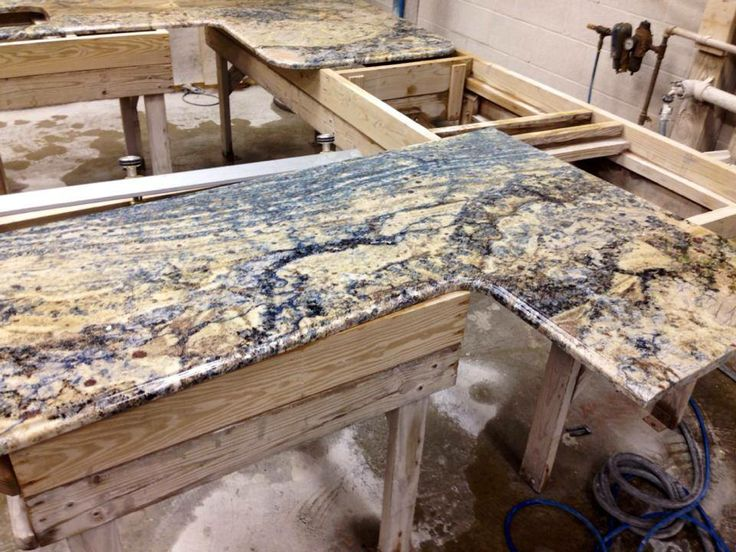 Amazing Azuritti Granite Top In Our Shop! This Granite Gets Its Name From The Blue  Mineral Azurite.