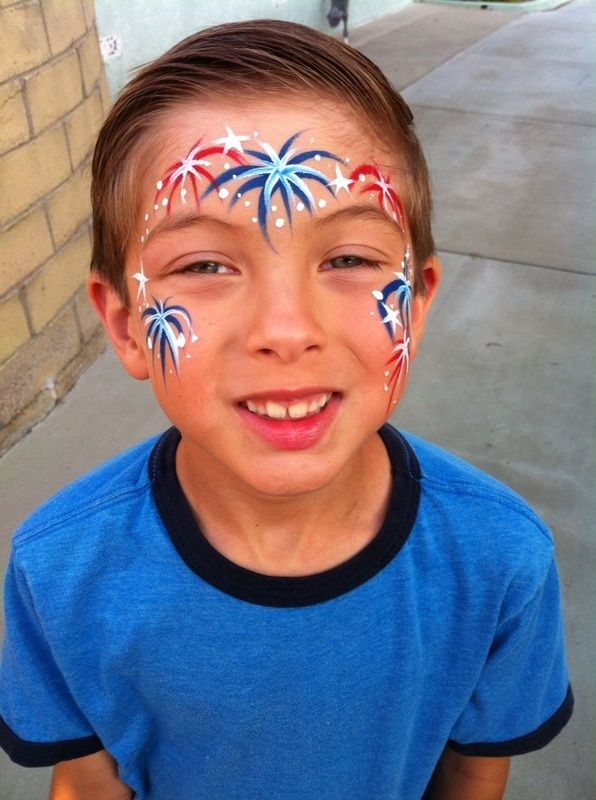 4th of July Face Painting - great party co